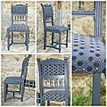 La chaise bleue-grise