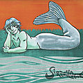 Sur l'herbe au bord de l'eau - On the grass by the water - Mermay 18