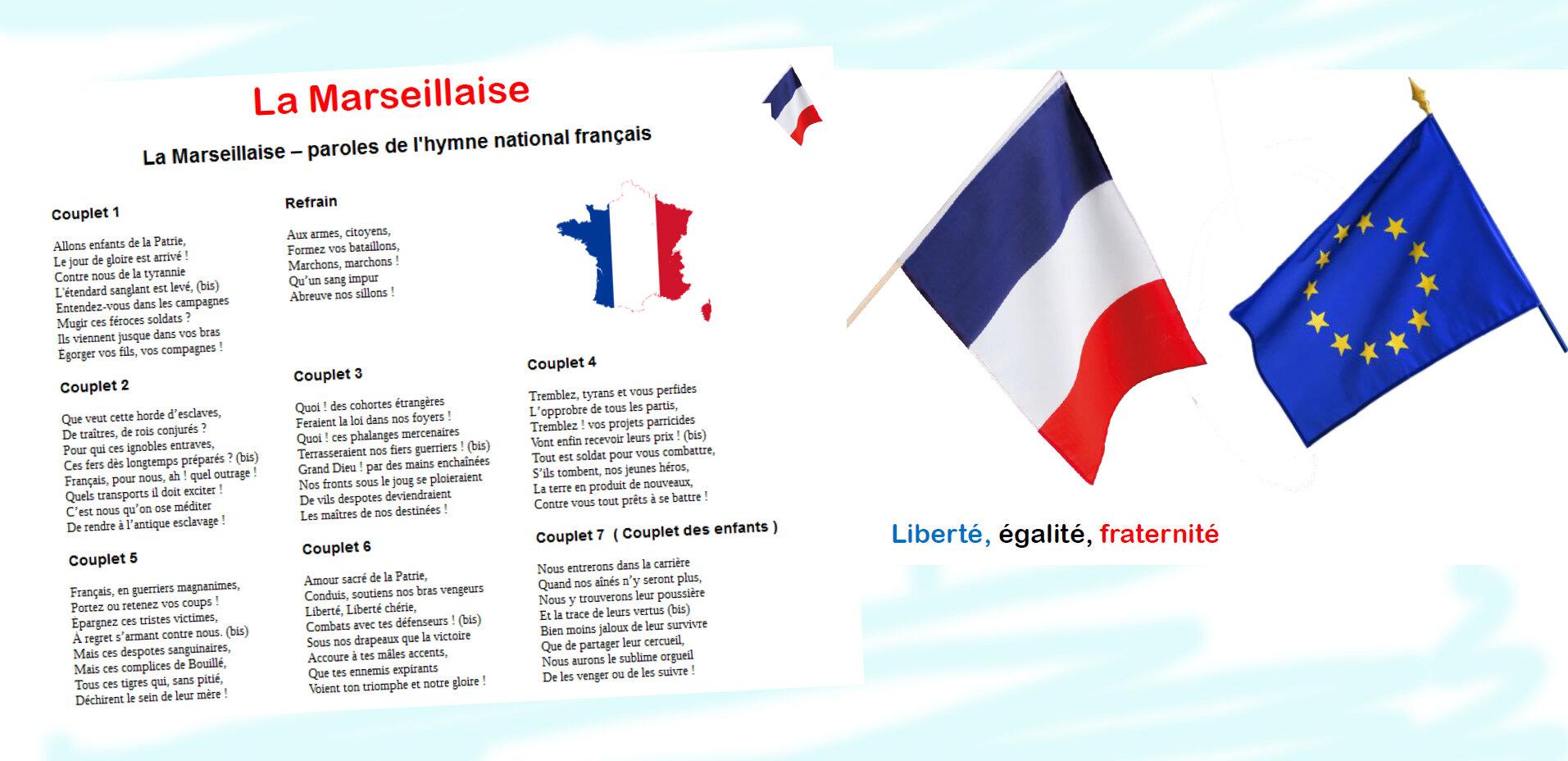 Hymne Et Drapeaux Pour La Classe