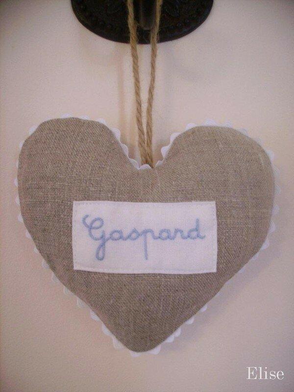 Petit coeur pour Gaspard