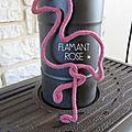Un flamant rose