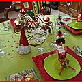 table de Noël rouge et anis 33