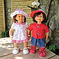 Rosi et sam en tenue estivale