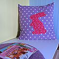 Grand coussin #6 lapin rose