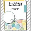<b>PCCC</b>#<b>240</b> Paper Craft Crew Challenges