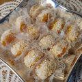 Abricots garni de coco