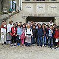 Visite du village par les écoles de st georges et romans