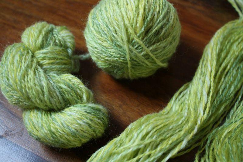 Mélange laine et soie filé au fuseau