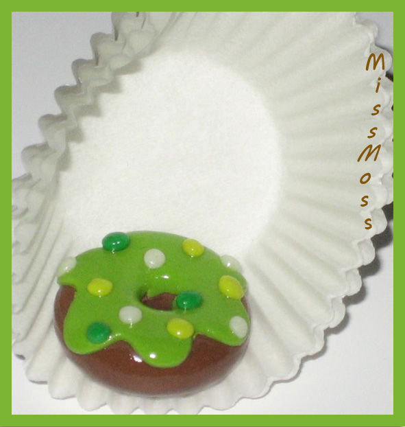 Aimant donuts vert