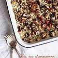 Riz aux champignons, cuisson au four