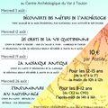 [<b>Centre</b> <b>Archéologique</b> du <b>Var</b>] Les Ateliers d'Auguste: activités pédagogiques pour les 8-15 ans