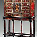 Cabinet d'apparat rectangulaire. Travail des ateliers parisiens du Louvre, par Pierre <b>Gole</b>, puis par André- Charles Boulle