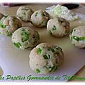 Boulettes de poulet au poivron vert et oignon