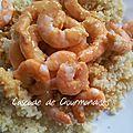 Couscous de crevettes et sa bisque au thermomix