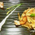 Poêlée de fenouil aux langoustines panées jus wasabi