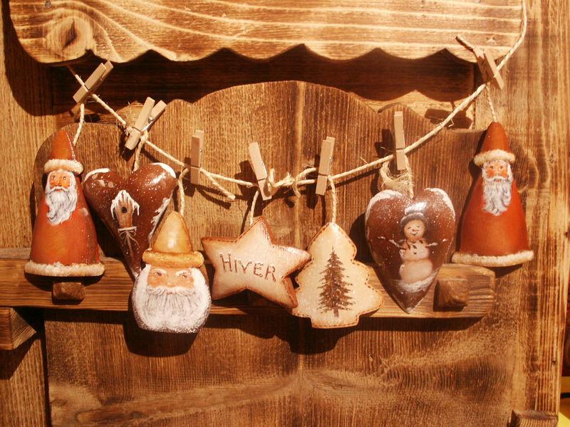 guirlande de Noël en bois