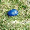 Agate bleue brute