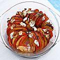 Tian de tomates et nectarines au chèvre frais