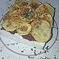Entremets de brandade de morue, tomates séchées, petites pommes de terre et courgettes croustillantes-découverte d'azaïs-polito