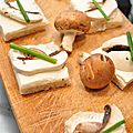 Toasts champignons crèmes