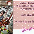 Fête des mères au chant des fleurs à Franois proche de Besancon