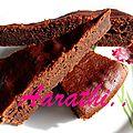 Chocolate coffee cake with thick cream