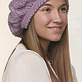 Création au #tricot n°10 : béret violet