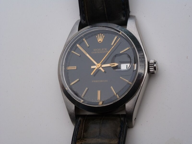 Rolex 6694 black dial gilt index or 1976