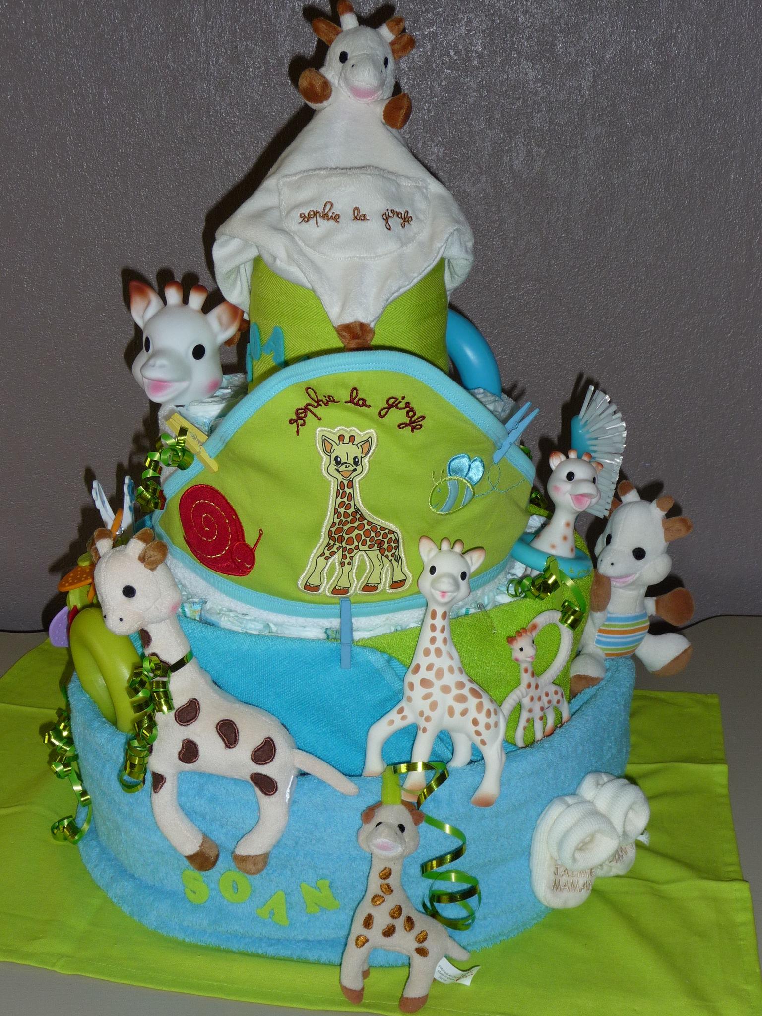 Voilà le gâteau bien décoré