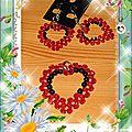 Coeur facette rouge noire BO + pendentif blog