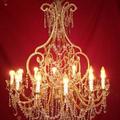 Lustre cage à 12 lumières, fabrication artisanale