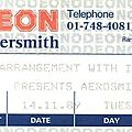 <b>Aerosmith</b> - Mardi 14 Novembre 1989 - Hammersmith Odeon (London)