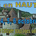 WEEK END EN HAUT QUERCY DU 4,5,6 OCTOBRE 2019