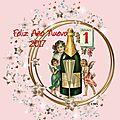 Carte de voeux (feliz año nuevo 2017) en espagnol
