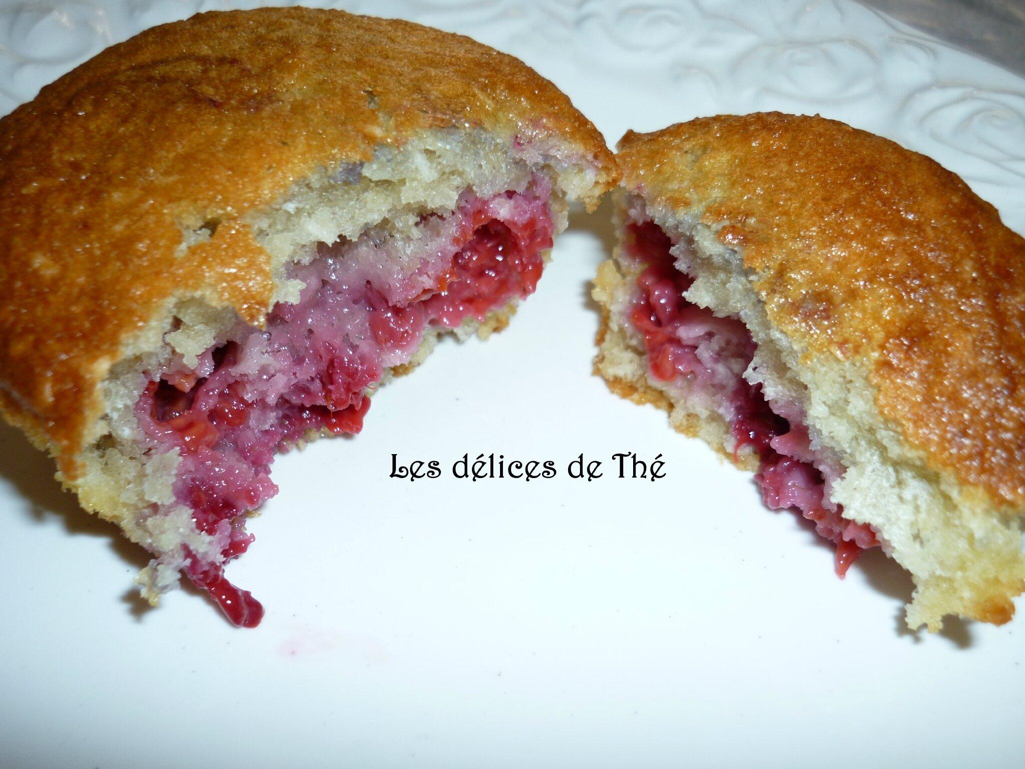 Muffins framboises noix de coco ....
