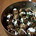 Les boulettes citronnées au bœuf et aux poireaux d'ottolenghi