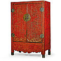 A rare and large<b>qiangjin</b>andtianqidecorated 'dragon' lacquer cabinet, Qing dynasty, Kangxi period (1662-1722)