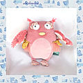 Doudou Peluche <b>Chouette</b> Musicale Mademoiselle Et Ribambelle Moulin Roty