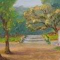 Jardin ouvert sur les bois (reproduction)