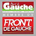 Le PG, membre du Front de Gauche