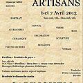 C'est ce week-end ! 3ème Salon des Artisans de CAPINGHEM - 6 et 7 Avril 2013