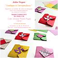 Atelier origami : enveloppes et correspondance