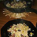 Poelee de riz au poireaux et aux restes de barbecue