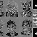 Je suis Charlie : Portrait de Philippe Flohic au fusain, pierre noire et craie blanche