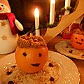 Oranges à la crème de pain d'épices et marmelade d'orange amère