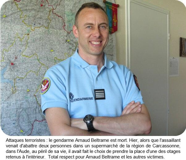 Quartier Drouot - Total respect pour Arnaud Beltrame et les autres victimes