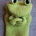 Marionnette grenouille qui louche #mgv068