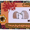 Carte aux couleurs de l'automne - Fall colored card