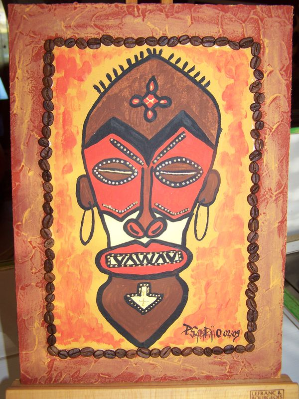masque africain a peindre