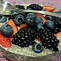 Crème de chia aux fruits rouges